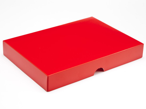 24 Choc Red Fold up Lid for Chocolates, Iced Biscuits or Wax Melts