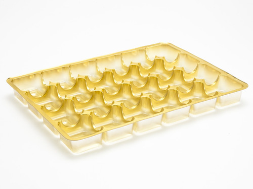24 Choc Vac-Forme Tray - Gold | MeridianSP
