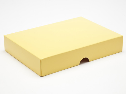24 Choc Fold up Lid Buttermilk Yellow