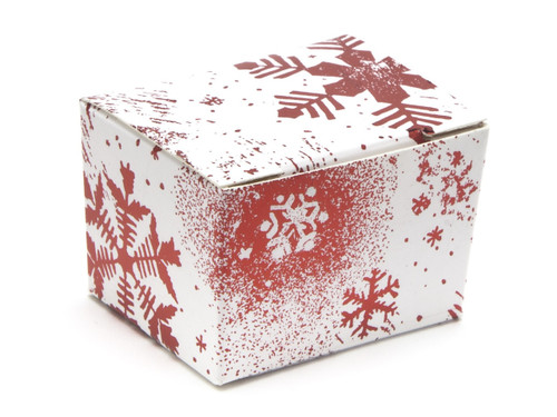 1 Choc Ballotin - Red and White Snowflake | MeridianSP