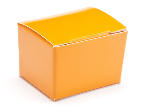 1 Choc Orange Ballotin Wedding Favour Box