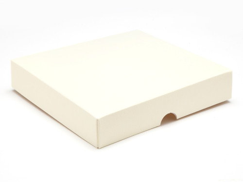 16 Choc Square Wibalin Lid - Cream - [LID ONLY]   MeridianSP