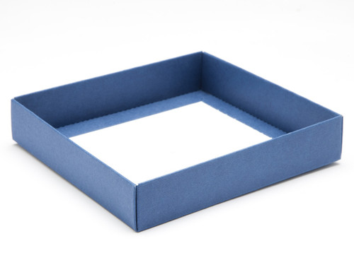 16 Choc Square Blue Wibalin Rigid Fold Up Base for Chocolates, Wax Melts, Iced Biscuits