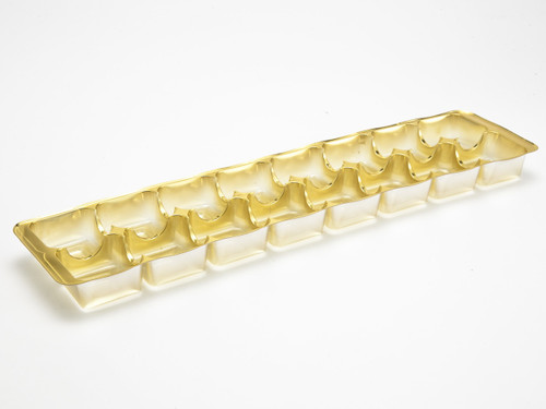 16 Choc Gold Moulded Vac Formed Tray