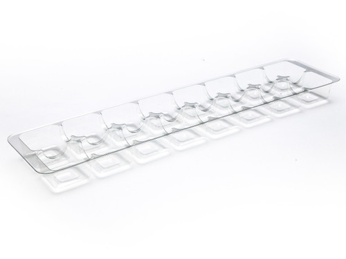 16 Choc Clear Moulded Vac Forme Tray
