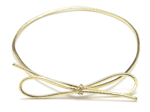 "14"" Metallic Elastic Loop - Gold 