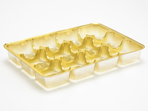 12 Choc Vac-Forme Tray - Gold | MeridianSP