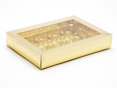 12 Choc Bright Gold Buffer Box