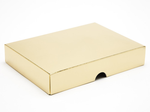 12 Choc Bright Gold Box Lid for Chocolates, Sweets, Iced Biscuits