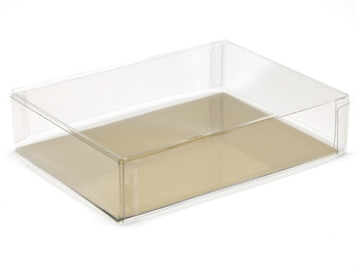 120x90x27 Rectangular Transparent Base and Lid - Clear | MeridianSP