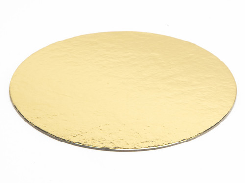 120 (Diameter) Cakeboard Disc in Gold/Silver Thick Board