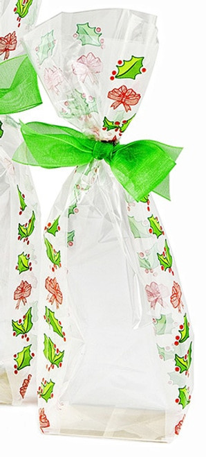 100x220 Frosted holly Christmas hard bottom bag