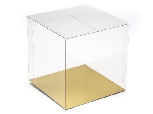 100mm Transparent Cube Carton - Clear | MeridianSP