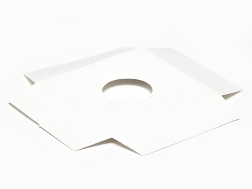 White Gloss Egg Plinth to fit Angled Base for Small Tapered Egg Carton