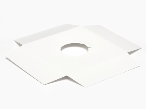 Plinth to fit Angled Base for Medium Transparent Tapered Easter Carton - White | MeridianSP