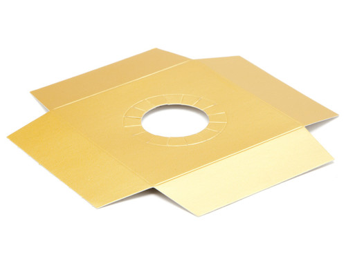 Matt Gold Plinth to fit Angled Base for Medium Transparent Tapered Easter Carton