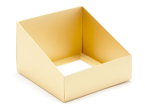 Angled Base for Medium Tapered Transparent Carton - Matt Gold | MeridianSP