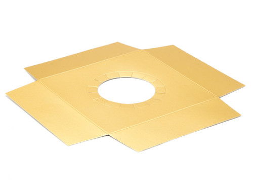 Matt Gold Plinth to fit Angled Base for Large Transparent Tapered Easter Carton