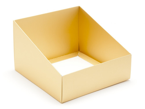 Angled Base for Extra Large Tapered Transparent Carton - Matt Gold | MeridianSP