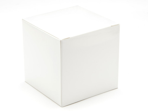 80mm Cube Carton - White | MeridianSP