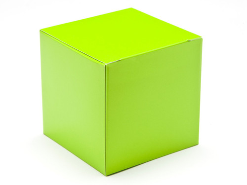 80mm Cube Carton - Vibrant Green | MeridianSP