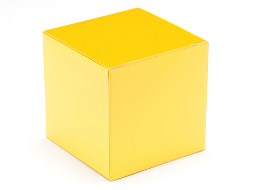 80mm Cube Carton - Sunshine Yellow | MeridianSP