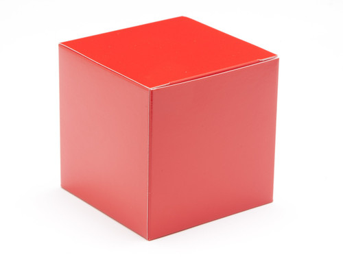 80mm Cube Carton - Red | MeridianSP