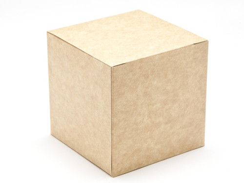 80mm Cube Carton - Natural Kraft | MeridianSP
