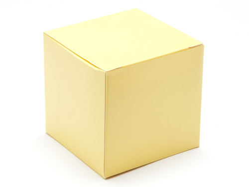 80mm Cube Carton - Buttermilk Yellow | MeridianSP