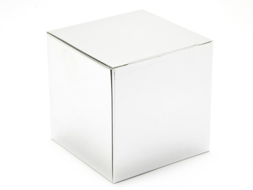 80mm Cube Carton - Bright Silver | MeridianSP