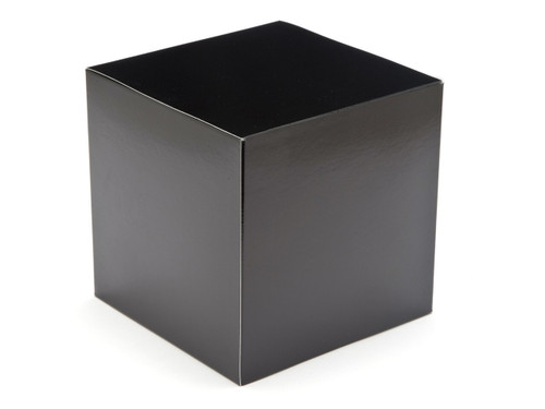 80mm Cube Carton - Black | MeridianSP