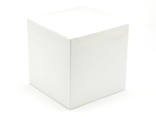 60mm White Gloss Crashlock Cube Carton