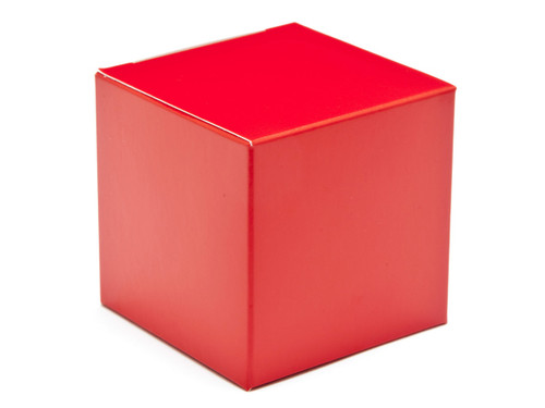 60mm Cube Carton - Red | MeridianSP