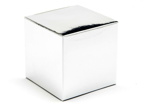 60mm Cube Carton - Bright Silver | MeridianSP