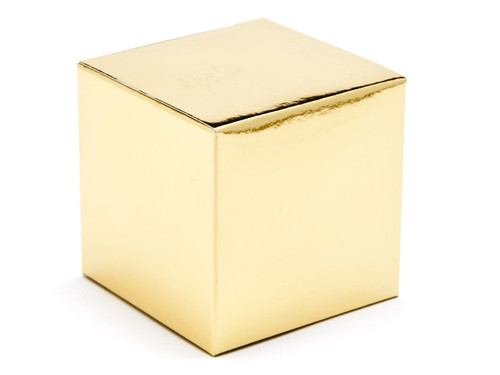 60mm Cube Carton - Bright Gold | MeridianSP