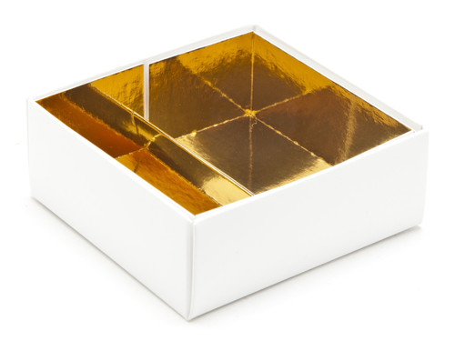 4 Choc Bright Gold Board Chocolate Box Divider Insert