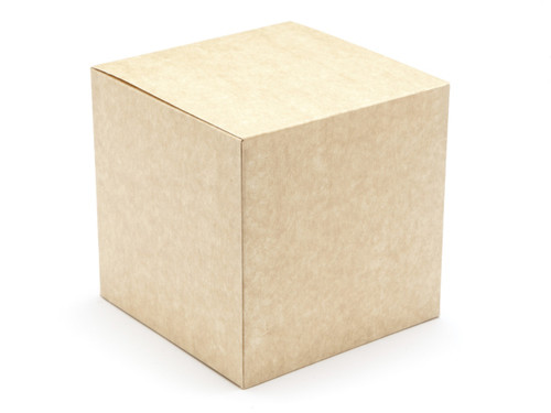 120mm Cube Carton - Natural Kraft | MeridianSP
