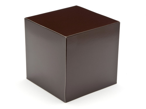 120mm Cube Carton - Chocolate Brown | MeridianSP