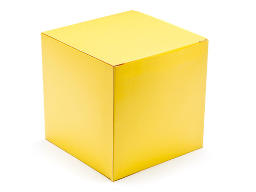 120mm Cube Carton - Buttermilk Yellow | MeridianSP
