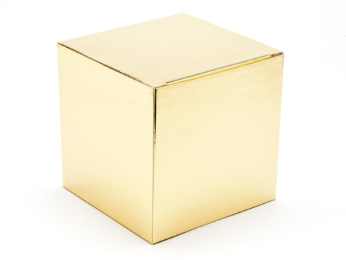 120mm Cube Carton - Bright Gold | MeridianSP