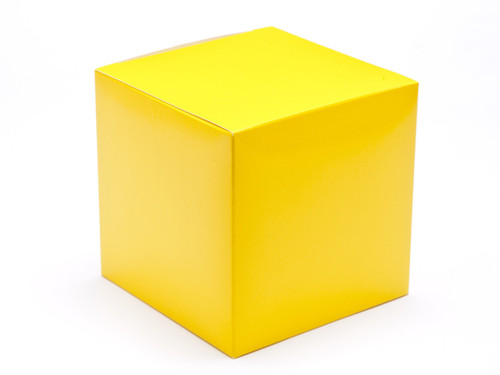 100mm Cube Carton - Sunshine Yellow | MeridianSP
