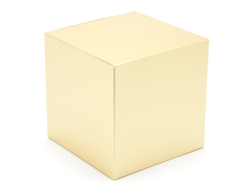 100mm Cube Carton - Matt Gold | MeridianSP