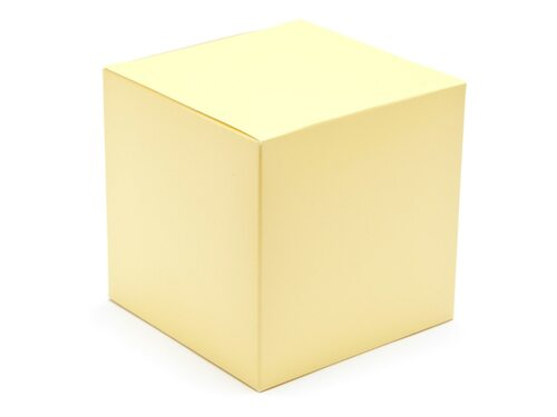 100mm Buttermilk Yellow Crashlock Cube Carton