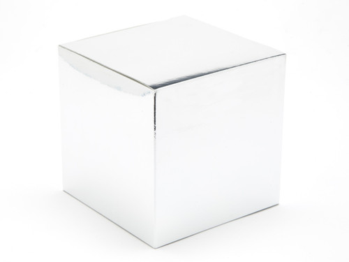 100mm Cube Carton - Bright Silver | MeridianSP