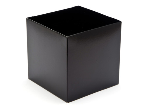 100mm Cube Carton - Black | MeridianSP