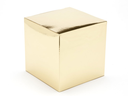 100mm Cube Carton - Bright Gold | MeridianSP