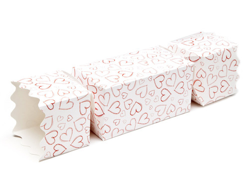 Light Hearts Extra Large sized Twist End Cracker - Twist-Lock Gift Packaging Cracker Carton Gift Carton Ideal for Valentine's occasions or wedding or gifting