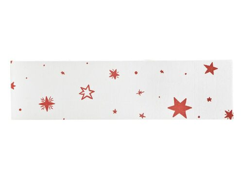 Riser Plinth for General Purpose Gift Box - White with Red Stars pattern | MeridianSP