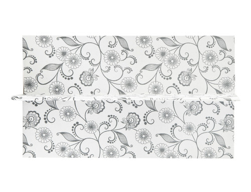 2 Bottle Divider Insert for Small General Gift Box - White with Floral Pattern | MeridianSP
