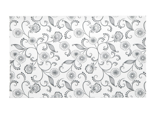 Small General Purpose Gift Box - White with Floral Pattern   MeridianSP
